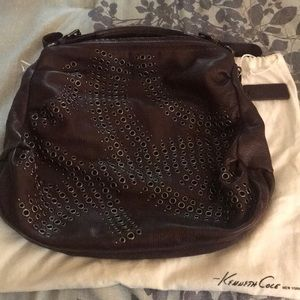 !Kenneth Cole New York! Cognac leather hobo